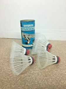 5 Vintage Regent Carlton Shuttlecocks Badminton Birdies Made England w/ can