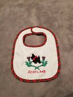 Glen Appin of Scotland Baby Bib Scotty Dog Tartan Plaid Souvenir New