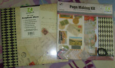 "NIP 12""x12"" scrapbook album and page making kit crafting Scrapbook Solutions"