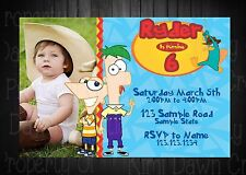 Phineas and Ferb Birthday DIGITIAL DELIVERY Invitation