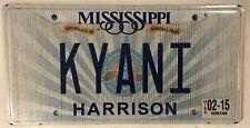 Vanity KYANI KIANI KYANITE license plate Blue Gemstone stone Kyana Kyane Kiana
