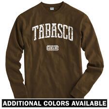 Tabasco Mexico Long Sleeve T-shirt - LS Men S-4X - Gift Villahermosa Tabasqueño