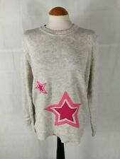 Ladies Jumper Size XL 14 16 OASIS Grey Pink Star Smart Casual Day
