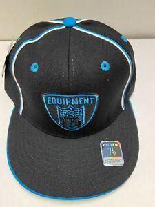 Carolina Panthers Fitted Men's NFL Hat Size 7 1/2 Black & Blue