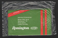 Remington Model 7600 Pump Action CtrFire Rifle - Instruction Book/Safety Booklet