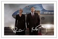KEVIN SPACEY & ROBIN WRIGHT HOUSE OF CARDS SIGNED PHOTO PRINT AUTOGRAPH