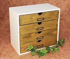 Minikommode Kommode mit 4 Schubladen 12017 Regal 32 cm Schmuckkasten Shabby