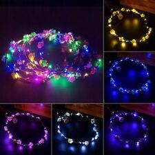 Bling LED Flashing Floral Flower Hairband Headband Light-Up Wedding Accessory