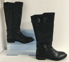 Avon Women's Chandra Riding Boots Faux Leather PU Black (Size 5 only)