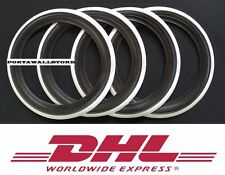 "14"" Black&Whitewall Portawall Tyre insert Trim Set FORD CHEVY Free Ship DHL.#049"