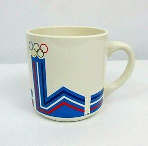 """1980 lake placid Olympics Vtg Maxwell house coffee mug 3.5"""" x 3.5"""""""