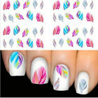 Beauty Water Transfer Stickers Nail Art Tips DIY Feather Cat Dandelion Decals