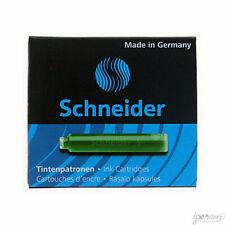 Pk/6 Schneider Fountain Pen Ink Cartridges, Green