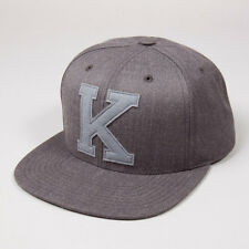 King Letterman Grey on Charcoal Snapback Hat Cap