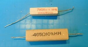 Heathkit SB-200 SB-201 HF Amplifier 465 ohm 15W and 2000 ohm 7W Power Resistors
