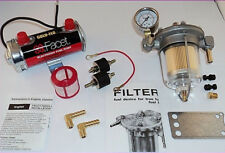 Facet RED Top Fuel Pump & Malpassi Filter King Regulator Kit 480532 - to 240bhp