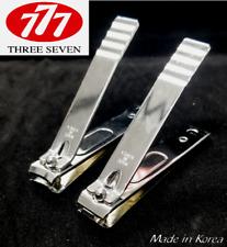 777 Ultra Wide Toe & Finger Nail Clipper 1 Set (2pc) Made In Korea