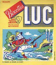 BUVARD PUBLICITAIRE / BISCOTTES LUC / CHATEAUROUX / IL COURT IL COURT LE FURET