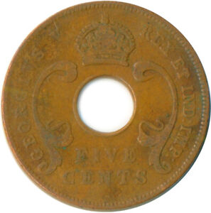 COIN / EAST AFRICA / 5 CENT GEORGE V.  1922  #WT7313