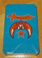 VTG Masonic Shriners Poker Playing Cards SEALED Deck Turquoise & Orange AAONMS