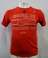 Detroit Red Wings CCM Men's Short Sleeve Distress Screen Print TShirt NHL L XL