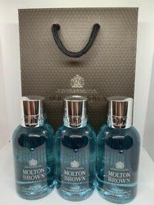 Molton Brown Coastal Cypress & Sea Fennel Shower Gel (3 x 100ml) Bottles - 300ml