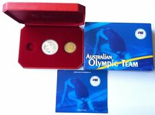 2008 $1 AUSTRALIAN OLYMPIC TEAM SILVER AND BRONZE 2 COIN SET