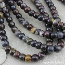 8x10mm Rondelle Abacus Drum Natural Bloodstone Gemstone Loose Beads Strand 15""