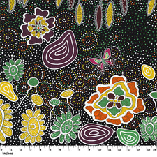 100/% algodón Acolchado tela artesanal soñando Rosas Amarillo Azul Raya Henry Glass