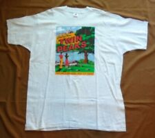 """NEW-DAVID LYNCH TWIN PEAKS 1990 """"POSTCARDS"""" GREETINGS FROM TP VINTAGE XL T-SHIRT"""