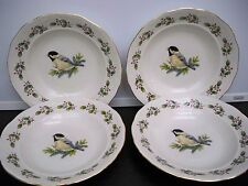 4 GIBSON CEREAL/SALAD  BOWLS BIRD HOLLY BORDER HOLIDAY BOWLS