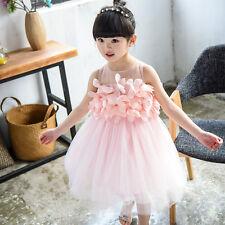 Baby Kids Girls Princess Wedding Dress Pageant Summer Tutu Tulle Dresses 5T