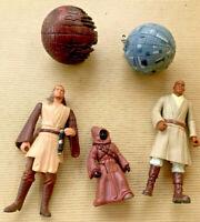 Vintage Lot (5) Star Wars Action Figure & Death Star 1993-1999 LFL Hasbro Kenner