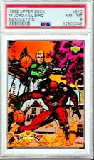 1992/93 Upper Deck Fanimation Michael Jordan Larry Bird #510 PSA 8