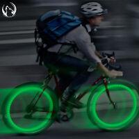 2 X Green Bike Bicycle Cycling Wheel Spoke Wire Tyre Bright LED Flash Light
