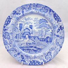 Antique Spode Blue & White Transferware Pearlware Plate Castle Pattern c 1815