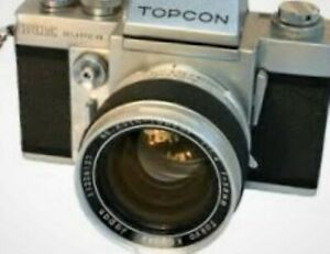 Topcon Re super camera with RARE Tokyo Japan  Re auto 58mm 1.4 LENS AND CASE