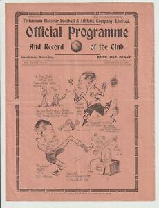 Tottenham Hotspur V Port Vale Rare Division Two Programme 1935/36