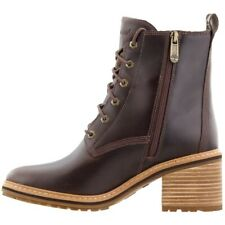 Timberland SIENNA HIGH Women's Waterproof Leather Side Zip Lace-Up Boots Sz 8.5
