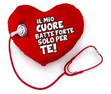 + CUORE STETOSCOPIO LOVE PELUCHE  SAN VALENTINO TI AMO DOTTORE AMORE