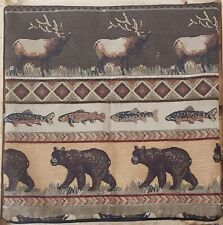 20x20 Sierra Bear Lodge Rustic Cabin Throw Pillow Cover only