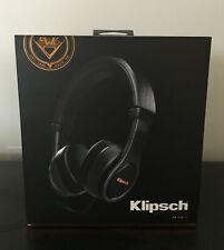 Klipsch Reference On Ear II Headphones Black w/ Case #1063115 Sealed Box $200!