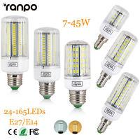 E27 E14 LED Corn Bulb 5730 SMD 24-165LEDs 7-45W Indoor Spot Light Lamp 110V 220V