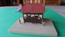 HO  gauge model railway building . Toilet Building