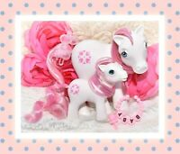 ❤️My Little Pony MLP G1 Vtg MOMMY & BABY Sundance BBE Beddy Bye Eye Pink White❤️
