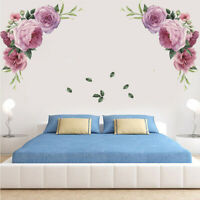 Removable Peony  Flower Wall Stickers Mural DIY Art Decal Home Living Room Decor