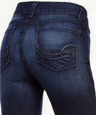 Not Your Daughters Jeans NYDJ Tummy Tuck Rhinestone Straight Leg Jeans Size 0