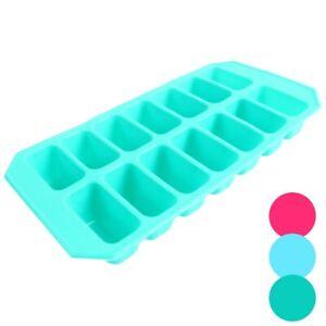 2x FLEXIBLE JELLY MOULD TRAYS Soft Silicone Gummy Gummi Mold Freezer Large Deep