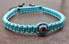 Mens Stone Beads Braided Rope Adjustable Cord Woven Bangle Accessory Bracelet
