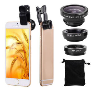 3 In 1 Mobile Phone Lenses Wide Angle Macro Camera Lens For Iphone Huawei
